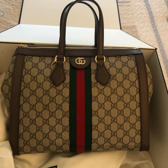 614c4a37f52d Gucci Bags | Ophidia Gg Medium Handle Bag Auth | Poshmark